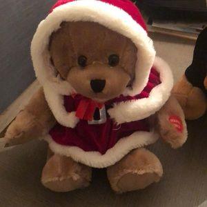Christmas singing bear
